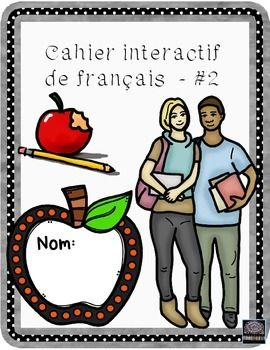 This is my second cahier interactif for French and includes another 16 activities.  A variety of French topics are included providing a varied supplementary package for use in the FSL classroom.  Interactive notebooks are an excellent way to provide students the opportunity to have a well-kept notebook and to practice the points introduced to them in class.