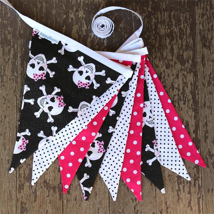 Pink Pirate Sparkle Bunting $35.00