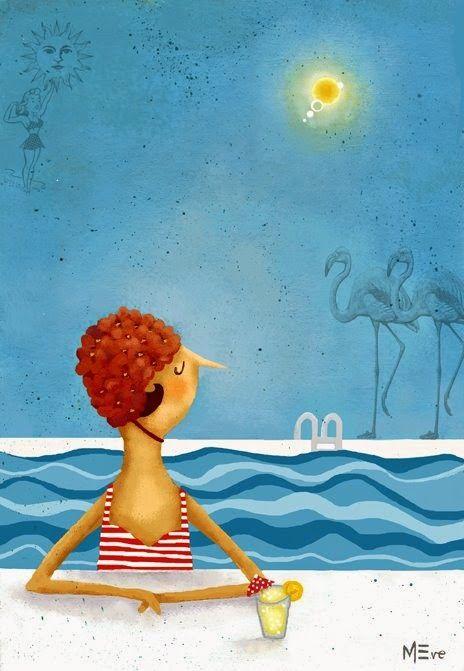 A la piscina! Il·lustracions / To the pool! Illustrations
