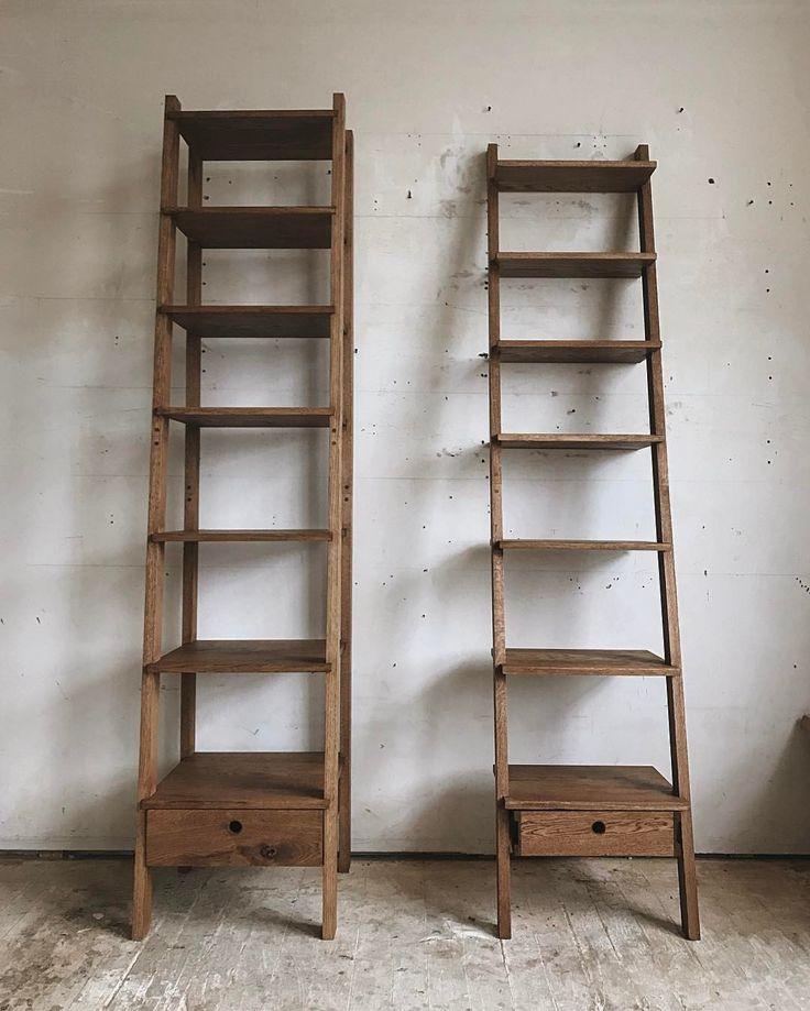 """Brian Christopher """"ladder bookshelves from last week."""""""