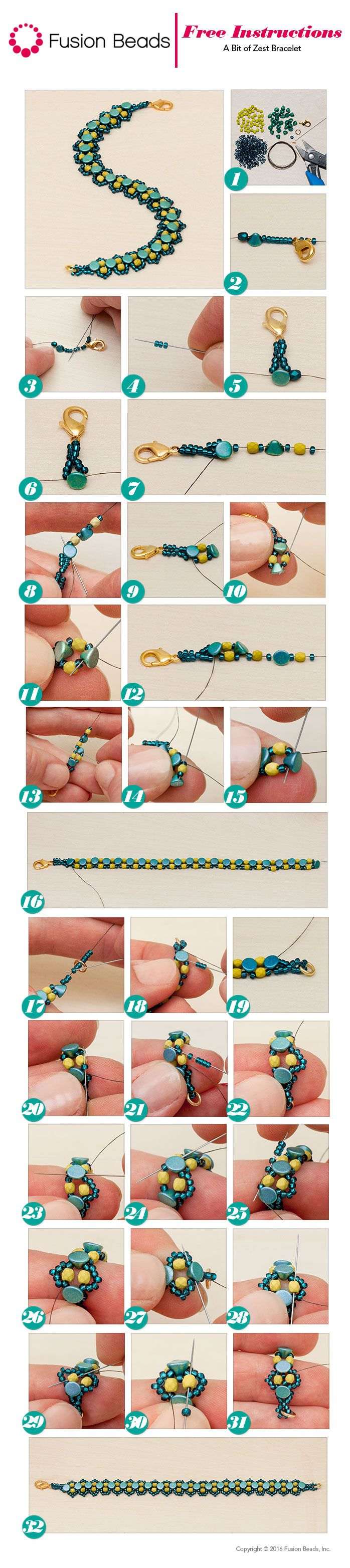 In love with the color combination in this exciting new beadwoven Bit of Zest…