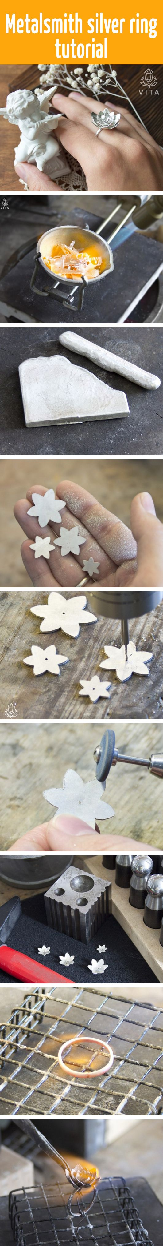 Metalsmith silver ring tutorial - Tutorial: anello a fiore in argento