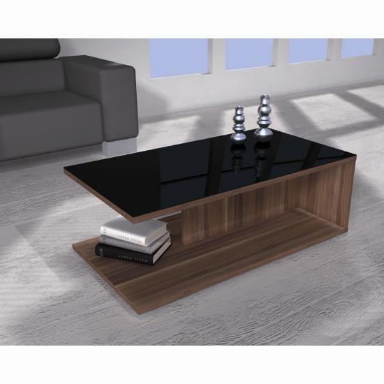 Energy Freestyle Black & Walnut Coffee Table