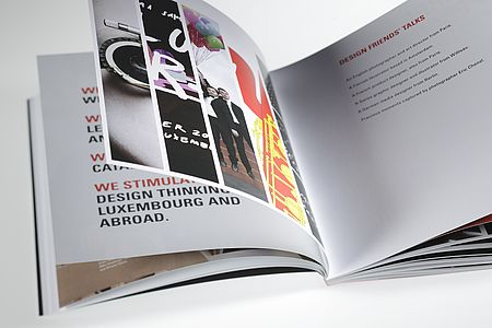 DESIGN FRIENDS // ANNUAL REPORT – printed on phoenixmotion xenon, 170 + 250 g/qm