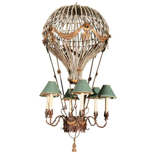i love this so much a hot air balloon light fixture
