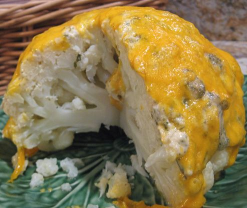 Cauliflower With Lemon Mayonnaise-Cheddar Crust Recipe - Food.com
