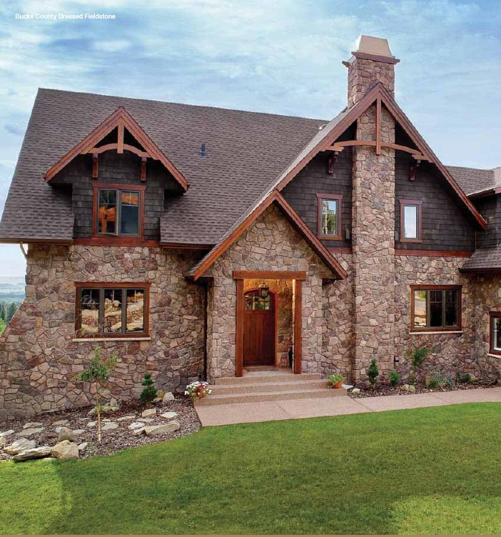 Exterior Stone Inspiration Stone And Wood Stone House