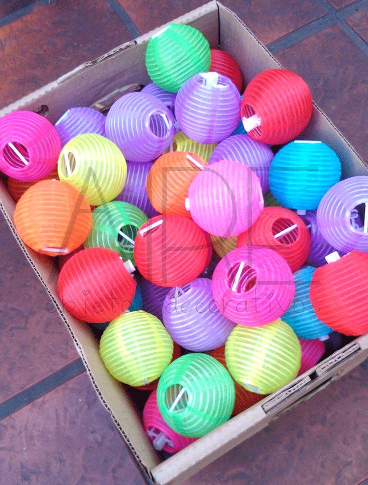 Lamparas chinas china lantern farolitos chinos party - Objetos decorativos ...