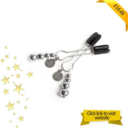 THIS PRODUCT COMES WITH #FREE DELIVERY - SEE MORE ON OUR WEBSITEWith The Pinch Fifty Shades Of Grey Adjustable #Nipple #Clamps you will be able to explore the delicious combination of pleasure and pain by fixing the nipple clamps to each of your nipples. Ouch what fun. #FiftyShades Of Grey Adjustable Nipple Clamps have adjustable pressure levels that uses a slider ring. https://boxesoffun.co.uk/product/the-pinch-fifty-shades-of-grey-adjustable-nipple-clamps/