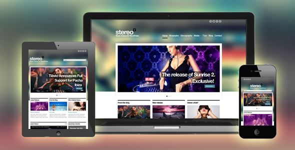 ThemeForest - Stereo Squared - Responsive Music HTML template  Free Download