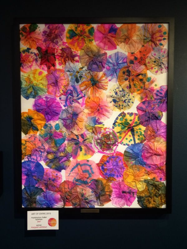 Collaborative art projects that are easy to do with lots of people. Margaret Whitehair (coffee filter art)