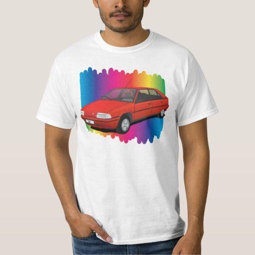 Colorful illustration of Citroën BX.  #citroen #citroën #citroenbx #citroënbx #automobile #tshirts #zazzle #knappidesign #illustration