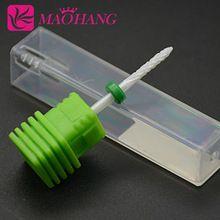 Chaude En Céramique Nail Foret 3/32 ''pour Nail Art Machine cuspidale Meule Tête pour Électrique Manucure Perceuses Nail Art outils(China (Mainland))