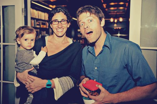 misha and his wife and child