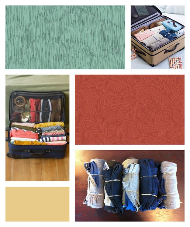 Roll everything to save space in your suitcase. | 10 Handy Tips For Packing Like A Pro