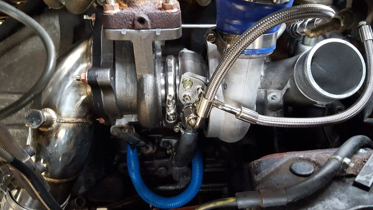 """landcruiser Prado / Colorado 95 Mamaba + 35% compressed air turbo fitted , custom 3"""" exhaust to build and fit next before i can test the difference in performance."""