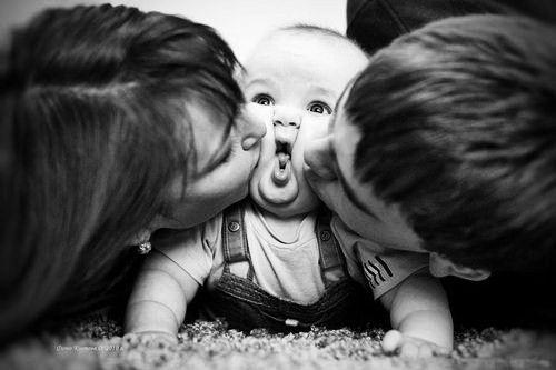 baby, couple, cute, family, love