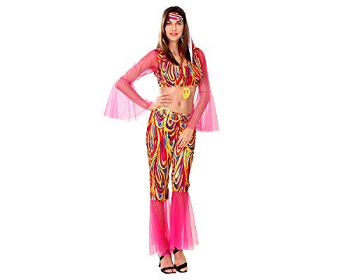DISFRAZ DE HIPPIE PARA MUJER TALLA STANDAR (M-L) = (38-42) | Your #1 Source for Toys and Games