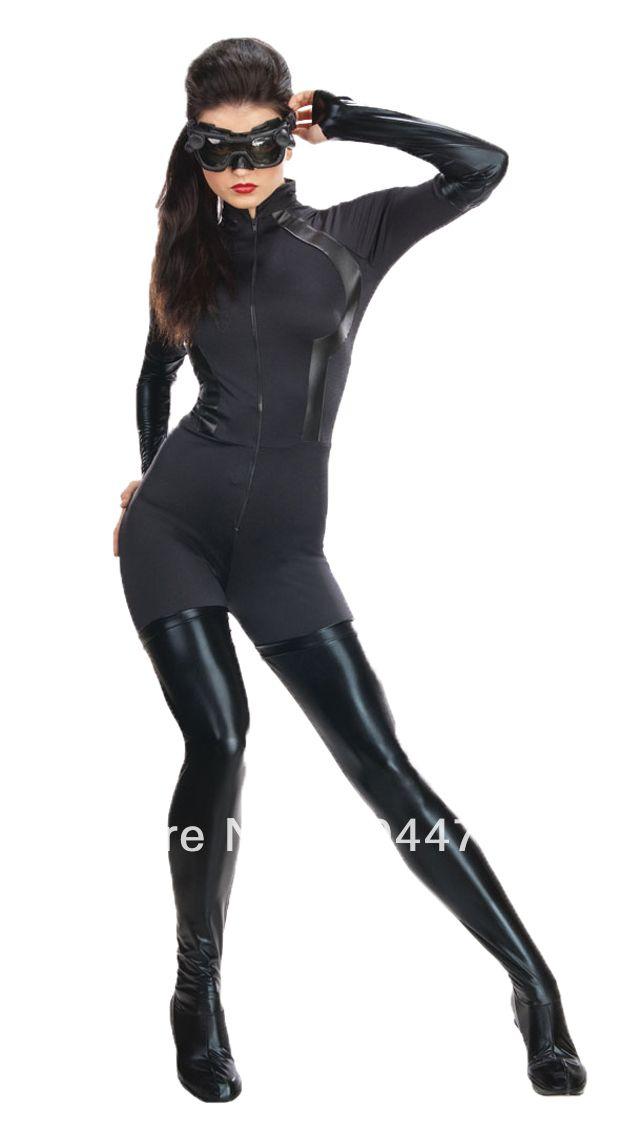 Женщина кошка костюм крупным fit черный спандекс зентаи костюм женщина кошка супергерой костюм
