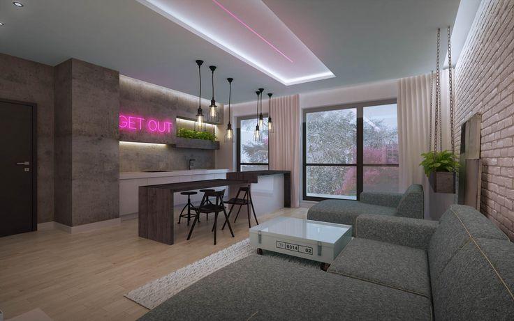 Wizualizacja małego mieszkania