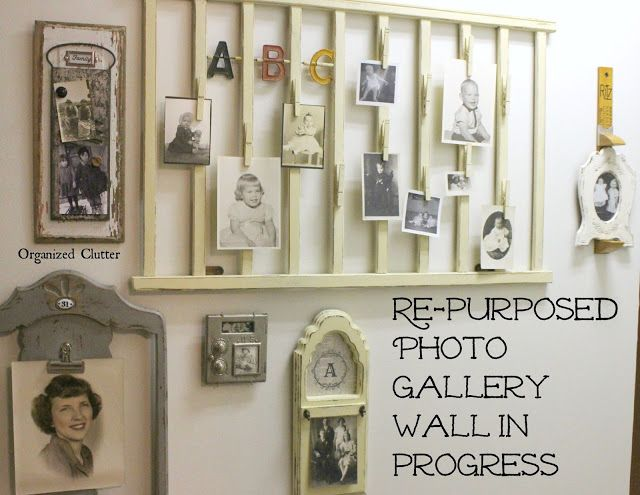 Another Repurposed Photo Holder for my Gallery Wall via OrganizedClutter.net