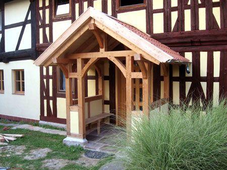 Fachwerk-Vorbau eines Bauernhauses