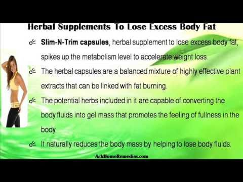 This video describes about proven herbal supplements to lose excess body fat safely. You can find more detail about Slim-N-Trim capsules at http://www.askhomeremedies.com