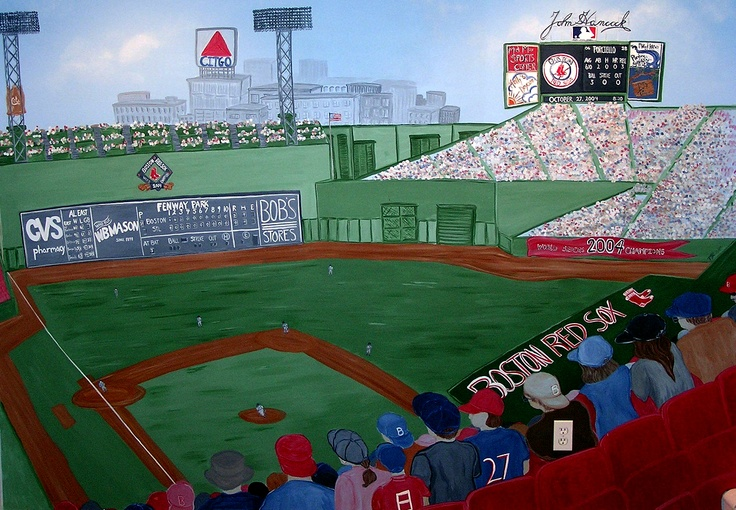 Fenway Park - Famous landmark of Boston from the Citgo Sign to the Red Sox's dug out  Murals by Cricketseye Art Studio www.cricketseye.com