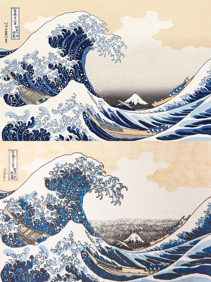 New Art Work A Copy Of A Masterpiece Of Hokusai