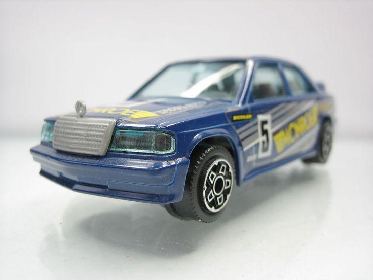 Diecast Bburago Mercedes 190 E 1/43 Blue Good Condition | eBay