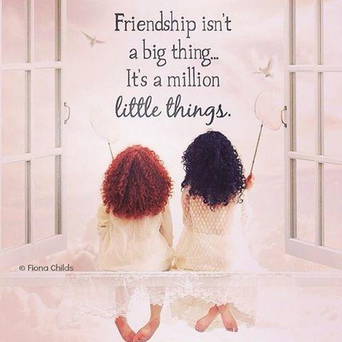 Friendship Isn't A Big Thing, Its A Million Little Things quotes friendship quote friends friend friendship quotes friend quotes