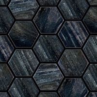 Hexagonal by Trend Group - The new mosaic tile is hexagonal and made of glass.