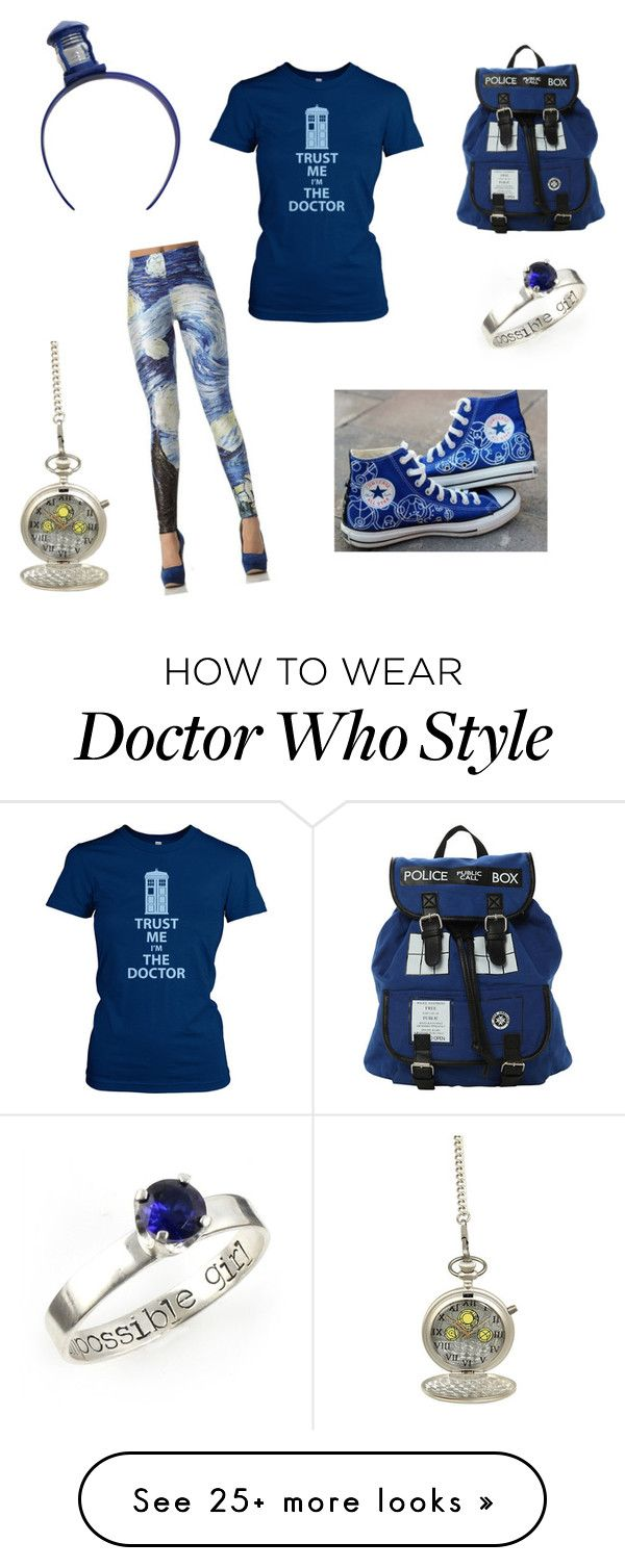 """""""Doctor Who Fan Girl"""" by alyssanickson on Polyvore featuring Converse"""