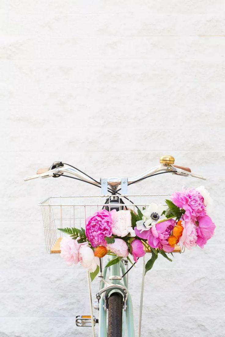 DIY Floral Bike Basket