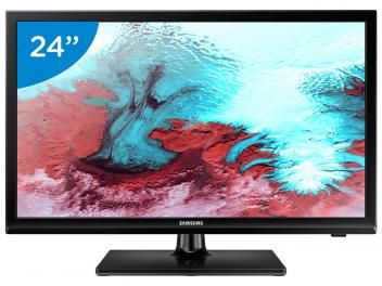 "Monitor TV LED 24"" Samsung UN24K4000 - Conversor integrado 1 HDMI 1 USB"