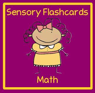 Sensory flashcards for math and free printable.