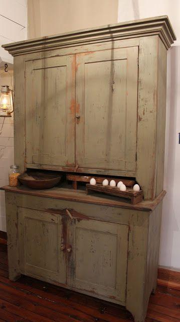 A Fine Farmhouse Vintage Kitchen Cabinets Cabin