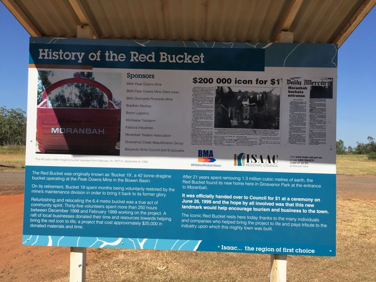 """The Red Bucket """"Bucket 19"""" . A 42 tonne dragline bucket operating at peaks down mine within the Bowen basin."""