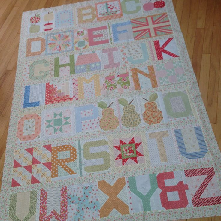 17 Best images about Quilts - Spell It With Moda / Alphabets on Pinterest Quilt, Alphabet and ...