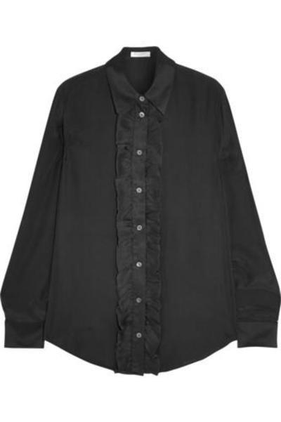 Blake ruffled washed-silk shirt #shirt #offduty #women #covetme #Equipment