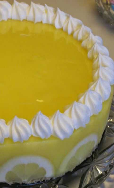 Creamy Lemon Supreme Pie ~ so good - so lemony! Link to Recipe from Pampered Chef
