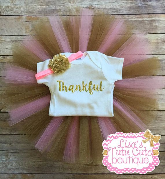Thankful tutu outfit. Thanksgiving tutu outfit. Give by LisasTutus