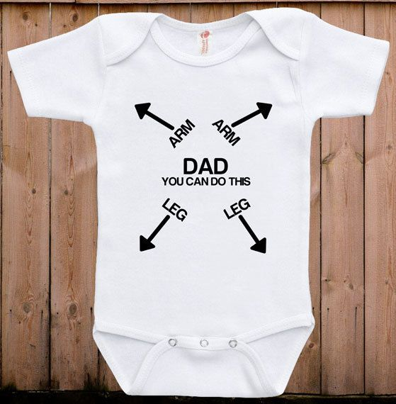 Funny baby clothes baby gift Dad you can do by teesandmoretees