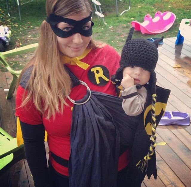 Babywearing Costume Idea Wrap Your Baby Batman