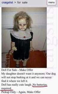 I hate creepy dolls lol