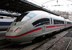 High-speed ICE train from Paris to Frankfurt