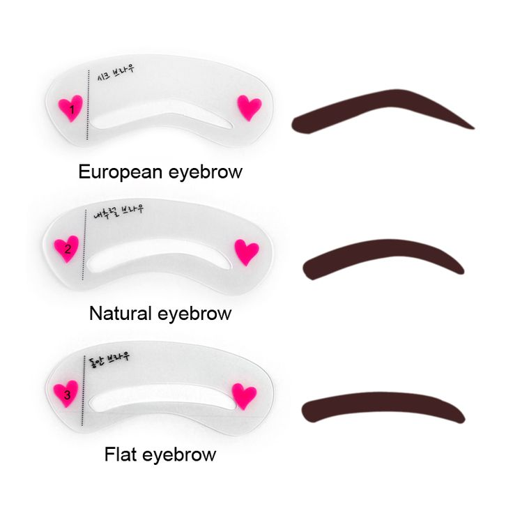 19 best eyebrows images on pinterest eye brows eyebrow for Eyebrow templates printable