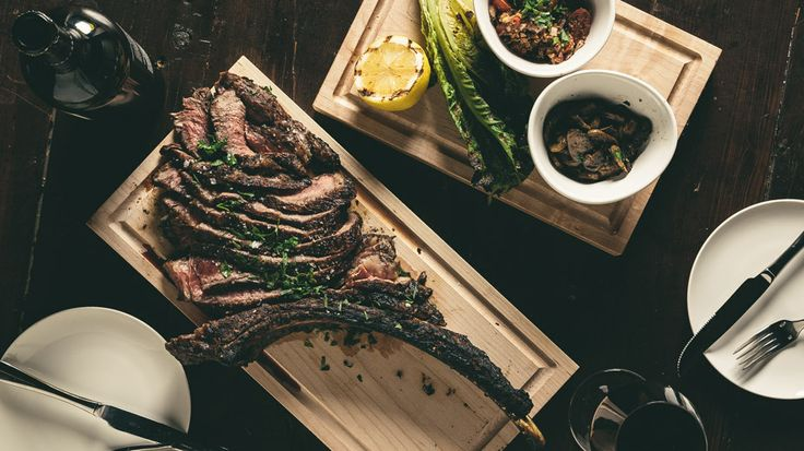 48 oz rib eye from Brigg's Kitchen + Bar. Perfect for sharing on the group celebration date!