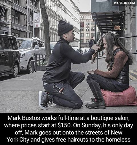 Good guy Mark. Faith in humanity restored. #9gag @9gagmobile