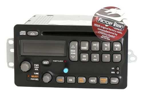 Reman and Bluetooth Mod SERVICE for 2003-05 Pontiac Aztek Montana AM FM CD Radio